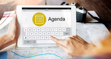 appointing: Schedule Task Agenda Appointment Planning Strategy Concept Stock Photo