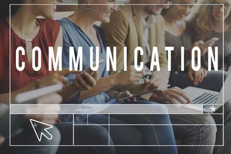 socialise: Chat Comunication Blog Webpage Website Concept