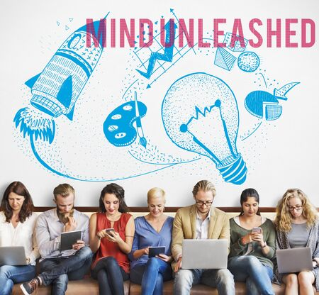 Mind Unleashed Ideas Creativity Imagination Concept Stock Photo