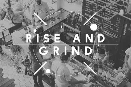 grind: Rise Grind Achievement Goals Growth Success Concept