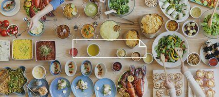mediterranean food: Brand Branding   Label Business Concept