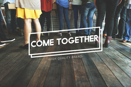 meetup: Come Together Community Family Friends Concept