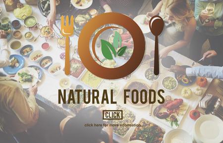comida rica: Los alimentos naturales comer bien Buena Conservación Diner Concept Foto de archivo