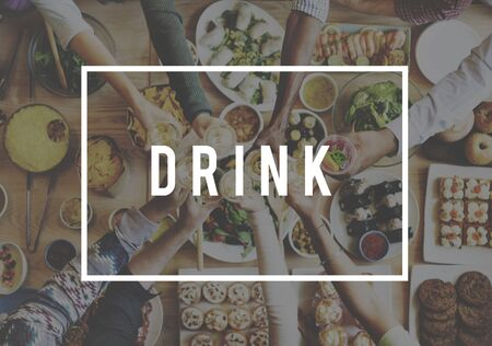 hydrate: Drink Drinking Beverage Health Hydrate Thirst Concept Stock Photo