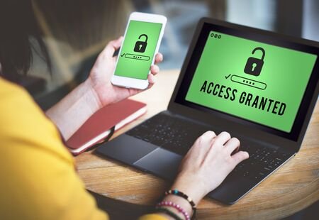 available: Access Granted Anytime Available Possible Unlock Concept