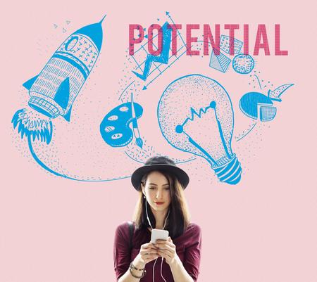 probable: Potential Ideas Creativity Imagination Light Bulb Concept Stock Photo