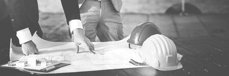 Developer Servey Planning Structure Construction Concept Stock fotó