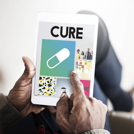 finding a cure: Pills Drugs Medication Cure Treatment Healthcare Browsing Concept