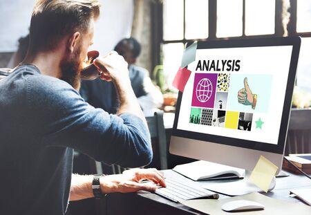 Analysis Analyze Data Information Insight Report Concept Stock Photo