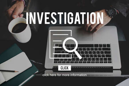 discovery: Investigation Results Research Discovery Concept Stock Photo