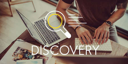 discovery: Discovery Research Results Knowledge Concept Stock Photo