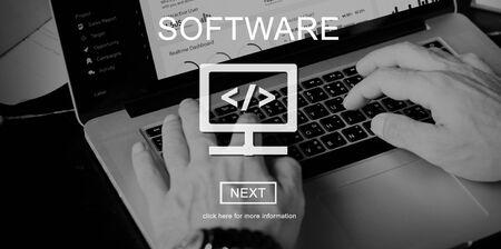Software Business Data Development Digital Concept Stock Photo