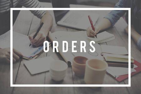 merchandise: Orders Customer Purchase Merchandise Concept