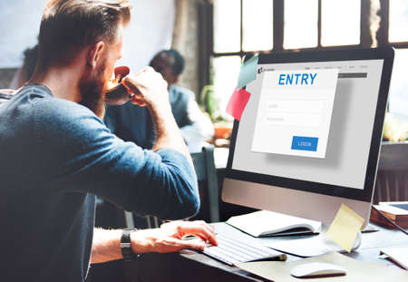 authorization: Entry Authorization Permission Accessible Security Concept Stock Photo