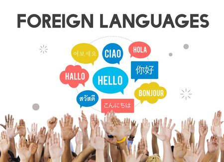 ciao: Communication Foreign Languages Greeting Worldwide Concept Stock Photo