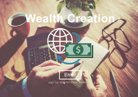 affluence: Wealth Creation Affluence Investment Concept Stock Photo