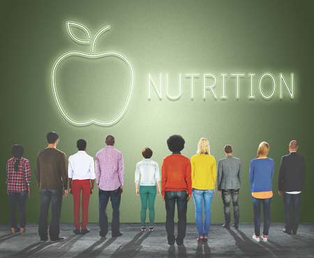 Nutrition concept with group of people Stock Photo