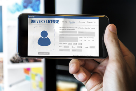 drivers license: International Drivers License Card Identification Data Information Concept