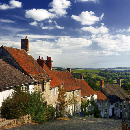 shaftesbury: Quintessential English Scene Beauty House Concept Stock Photo