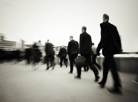 Morning Commuters Of London Walking Concept