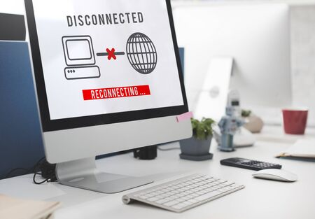 disconnected: Disconnected Disconnect Error Inaccessible Concept Stock Photo