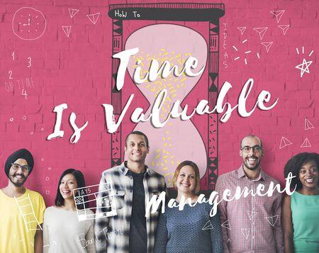 Valuable Times Value Challange Money Concept Stock Photo