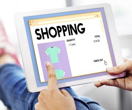 shopaholic: Shopping Marketing Puchase Shopaholic Spending Concept Stock Photo