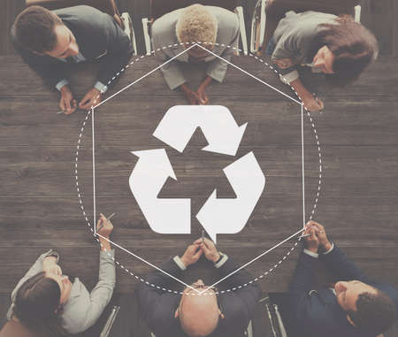 regain: Recycle Biodegradeable Solution Empower Graphic Concept