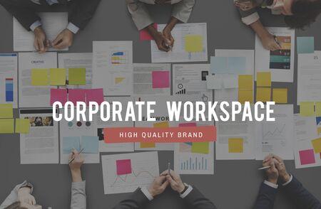 bureaucratic: Corporate Workspage Office Place of Work Concept