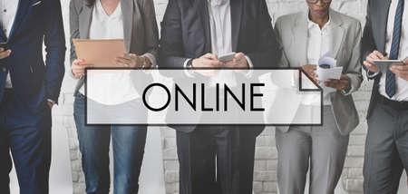 diversity domain: Online Internet Network Technology Media Concept Stock Photo