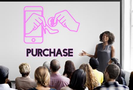 spending: Purchase Buy Shopping Spending Retail Concept