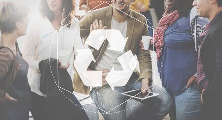 regenerate: Recycle Biodegradeable Solution Empower Graphic Concept