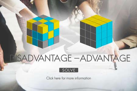 disadvantage: Disadvantage Advantage Comparison Decision Concept