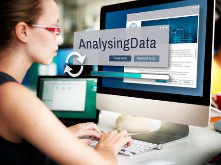 analysing: Analysing Data Information Analysis Assessment Concept