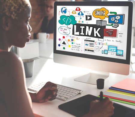 backlinks: Link Network Hyperlink Internet Backlinks Online Concept Stock Photo