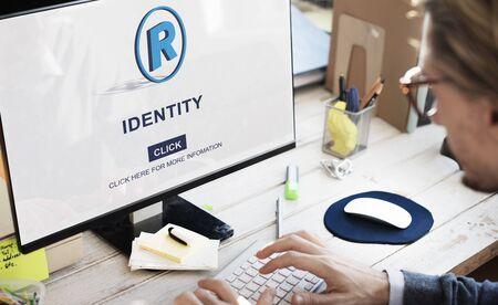 trademark: Identity Trademark Copyright Badge Concept
