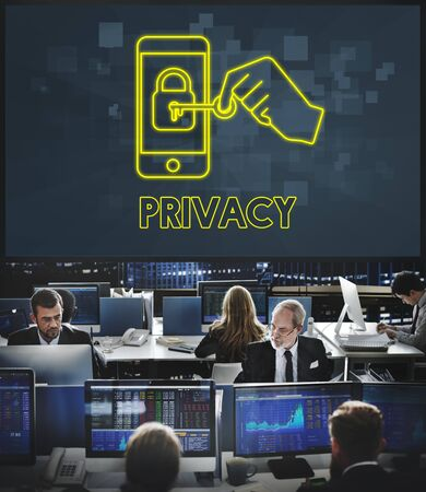 hectic: Privacy Online Network Security Technology Graphic Concept
