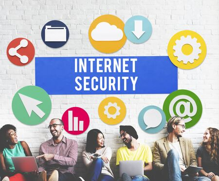 security technology: Internet Security Communication Technology Concept Stock Photo