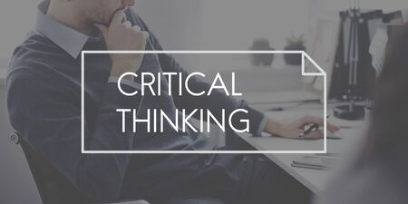 critical: Critical Thinking Analysis Determination Strategy Concept