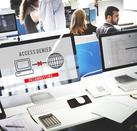 access denied: Access Denied Password Protection Safety System Concept Stock Photo
