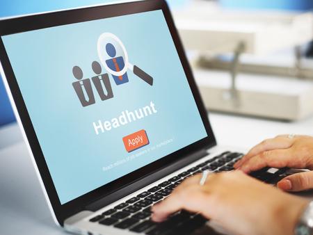 Headhunten Headhunting Het inhuren van Human Resources Concept