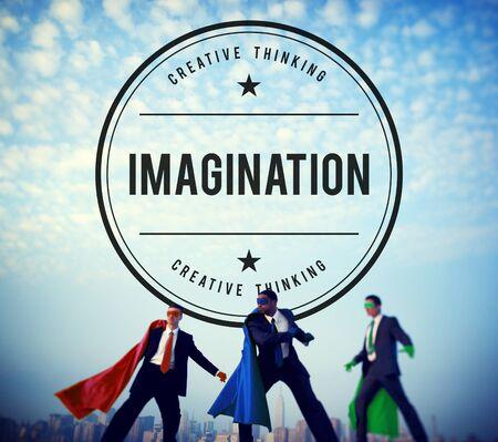 powerful creativity: Imagine Imagination Thinking Dream Fresh Ideas Concept Stock Photo