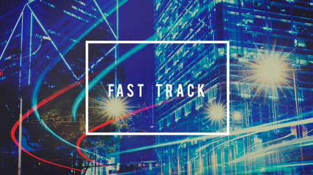 fast track: Fast Track Succeed Goal Target Achievement Improvement Concept