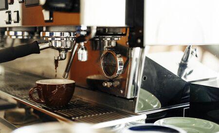 awakening: Beverage Barista Steam Coffee Chill Awakening Concept Stock Photo