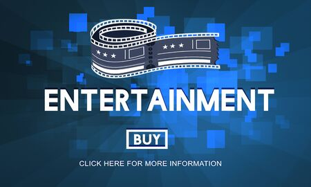 feature film: Movie Cinema Ticket Graphic Concept