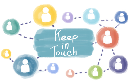 keep in: Keep in Touch Connect Follow Social Media Follow Concept