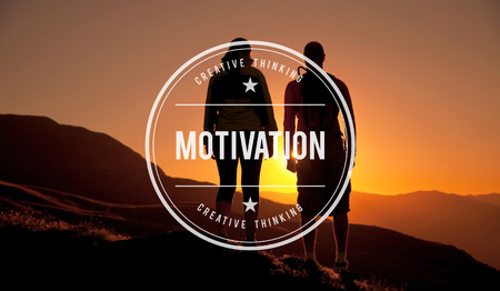 hopeful: Motivation Inspiration Hopeful Goal Concept Stock Photo