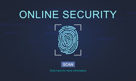 security technology: Technology Security Fingerprint Password Concept Stock Photo