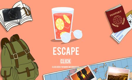 Escape Freedom Exit Crisis Concept Stock Photo