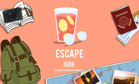 esc: Escape Freedom Exit Crisis Concept Stock Photo